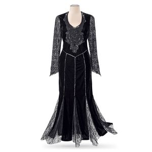 THE PYRAMID COLLECTION Velvet & Lace Gothic Dress